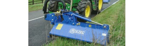 Tractor hedge cutter & verge mower