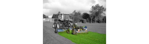 Wide area fine cut gang flail mower