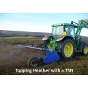TSN heavy duty flaiul mowwer cutting and spreading heather