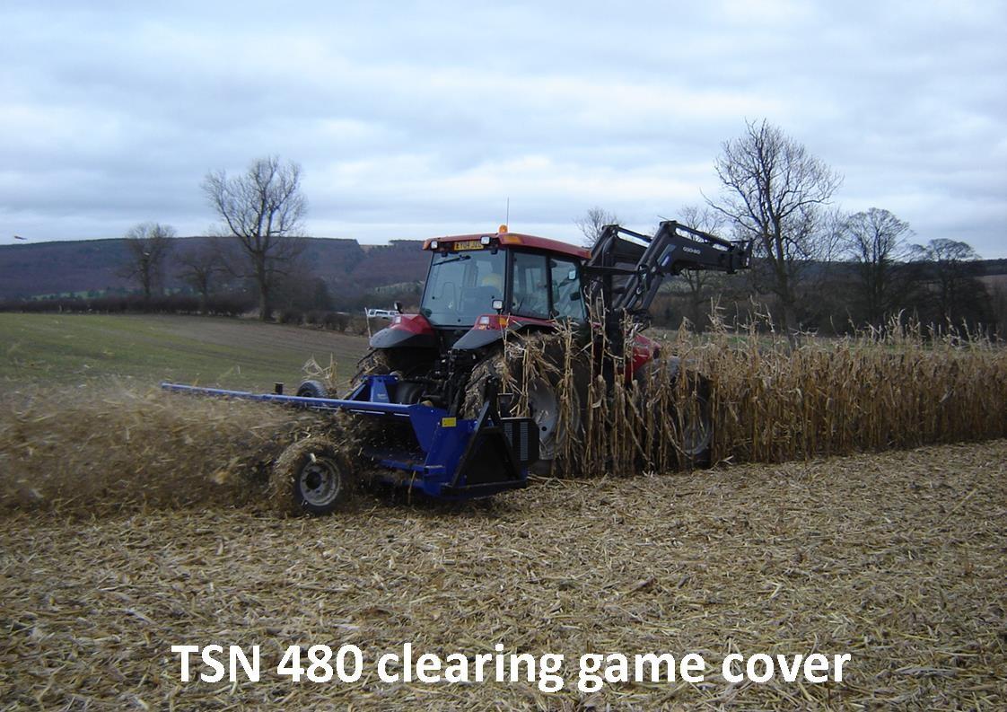 Ryetec TSN heavy duty flail mower ccutting and shredding game cover