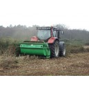 Ryetec Contractor heavy duty flail mower collector C2000CHS on conservation work gorse cut and collect