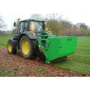 Ryetec P1600CHE flail collector collecting leaves on parkland