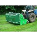 Ryetec Mini flail collector cutting and collecting grass on caravan park