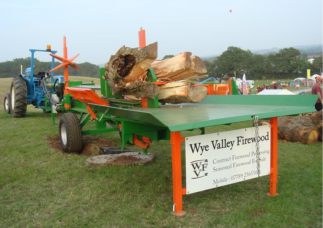 Ryetec Contractor heavy duty cordwood trunk log splitter