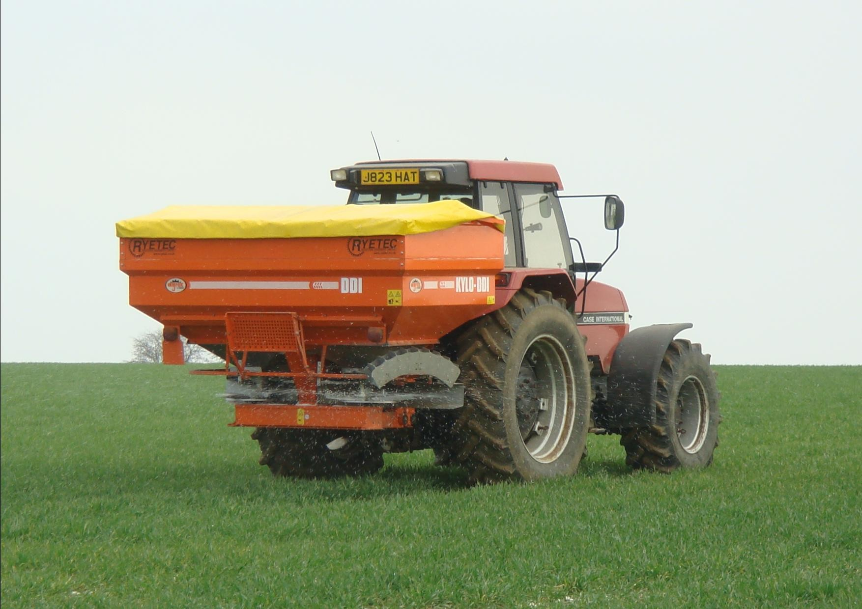 Ryetec Agrex DDI weigh cell RDS computer controlled variable rate fertiliser spreader