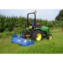 Ryetec Contractor Mini Mounted Flail Mower CM180 on John Deere tractor