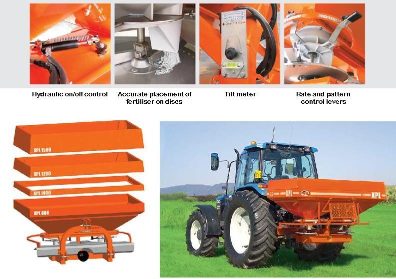 Ryetec Agrex fertiliser spreader features