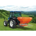 Ryetec Agrex SDA twin disc compact spreader working on grassland