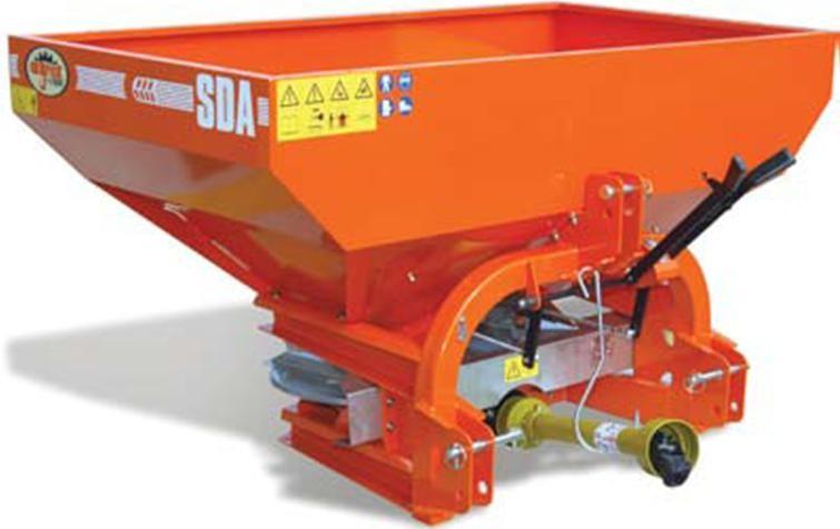 Ryetec SDA compact twin disc fertiliser spreader