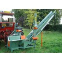 Ryetec CSP firewood log processing station, saw, splitter & conveyor combination