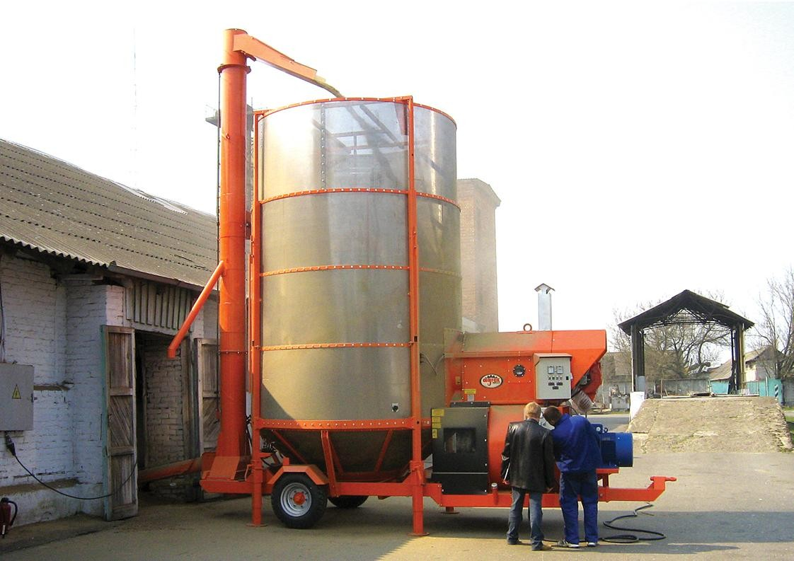 Ryetec Agrex mobile grain drier dryer in action