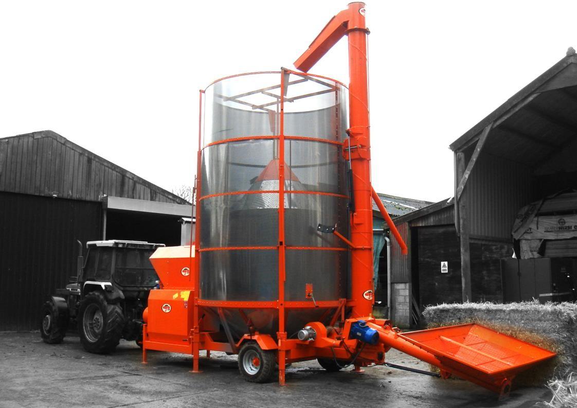 Ryetec Agrex mobile grain drier dryer