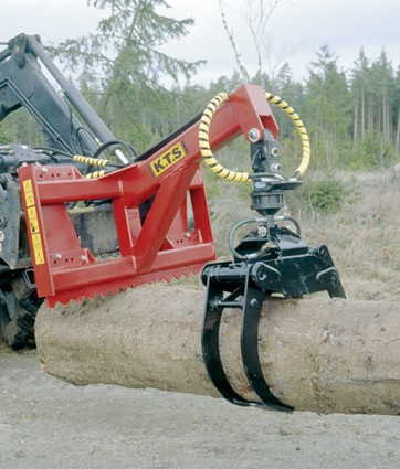 Ryetec forestry timber firewood loading grapple grab for telehandlers and loaders