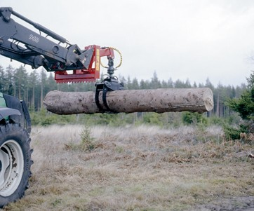 Ryetec forestry timber firewood loading grapple grab