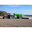 Ryetec GDK8000 lime spreader with 12 metre auger booms for powder spreading