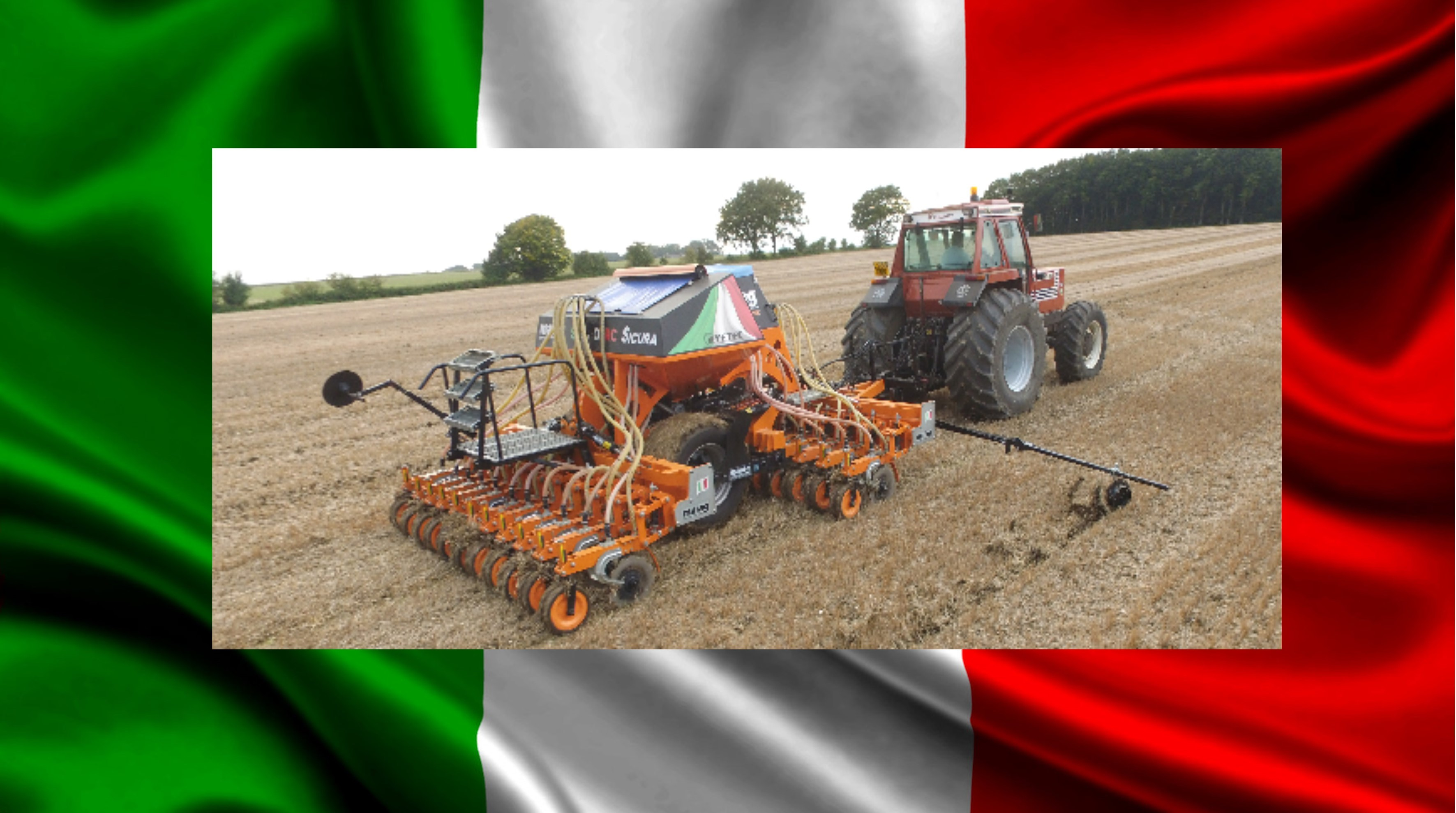 Italian Job Maag direct low disturbance disc grain drill
